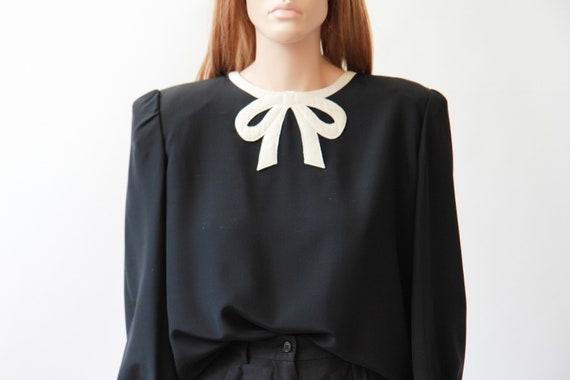 80s VALENTINO bow blouse