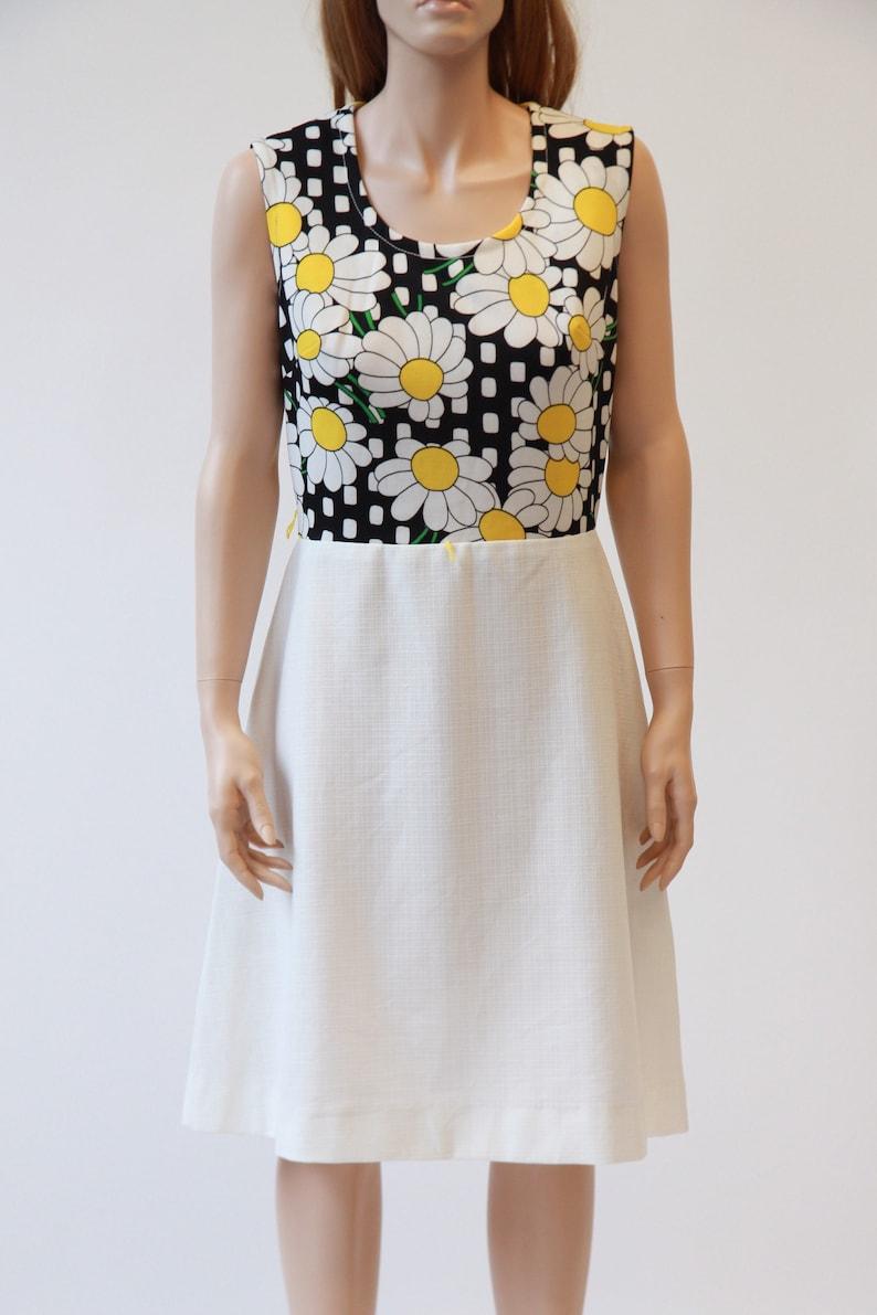 60s daisy scooter dress mod dress medium large