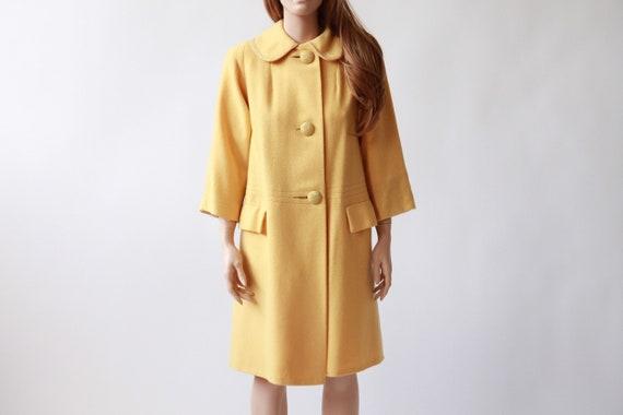 50s/60s CHERRY WEBB yellow Peter Pan collar coat |