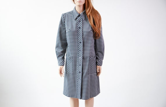 60s gingham scooter dress