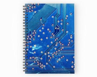 Circuit Board Notebook ~ Blank Spiral Notebook ~ Engineer ~ Programmer ~ Journal~ Computer ~ School Supplies ~ CompSci ~ Computer Science ~