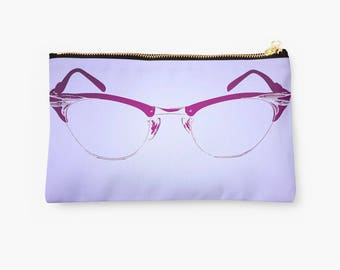 d79cdf1ee1 Cateye Clutch ~ Makeup Bag ~ Zipper Pouch ~ Accessories ~ Purse ~ Cateye  Glasses ~ Pinup Girl ~ Vintage Glasses ~ Vintage Fashion ~
