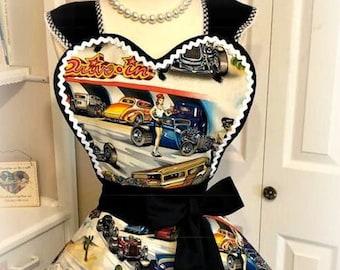 Retro drive in car hop apron
