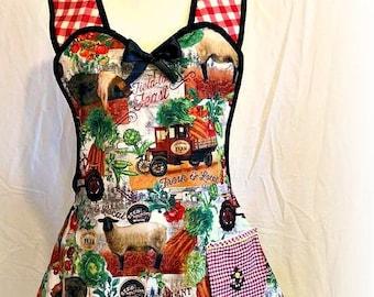 Farmhouse kitchen apron Free Shipping