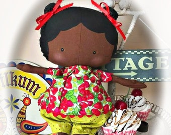 Sweet little girl handmade doll