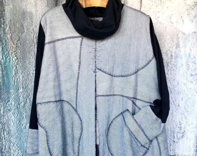 Code lane Patchwork Long Tops