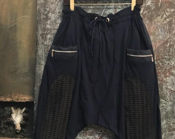 XX Comfy drop pants dark blue knit  CC 0177