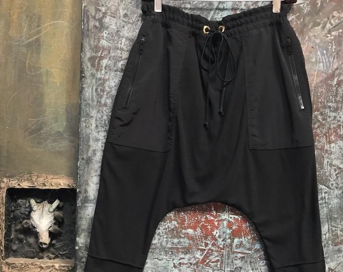 Comfy black knit drop pants   CC 0178