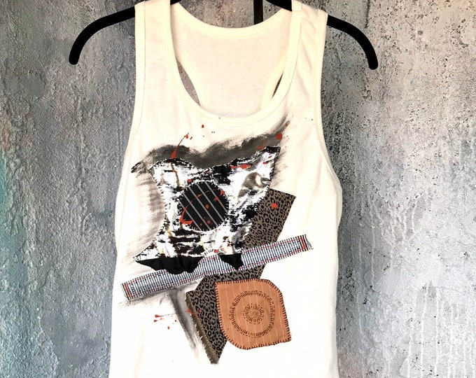 Mixed Media Art Tank Top