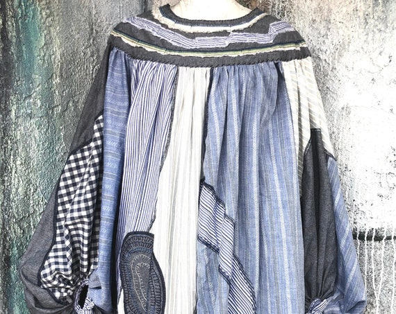 Big Sleeves  Cotton Patchwork Design Shirts