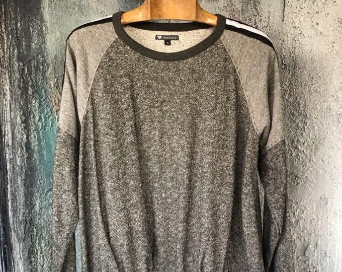Heather two grey combination raglan sleeve shirt
