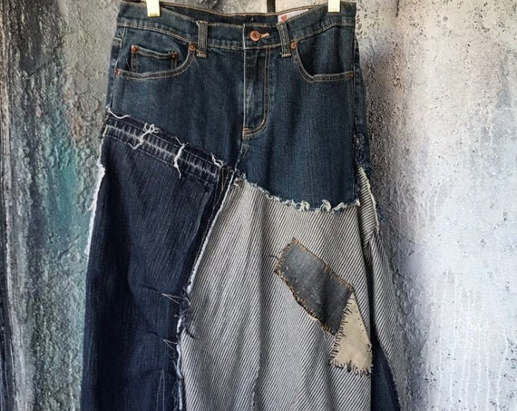 Reconstructed Vintage Jean's Skirt