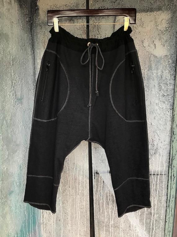 Comfy black knit drop pants