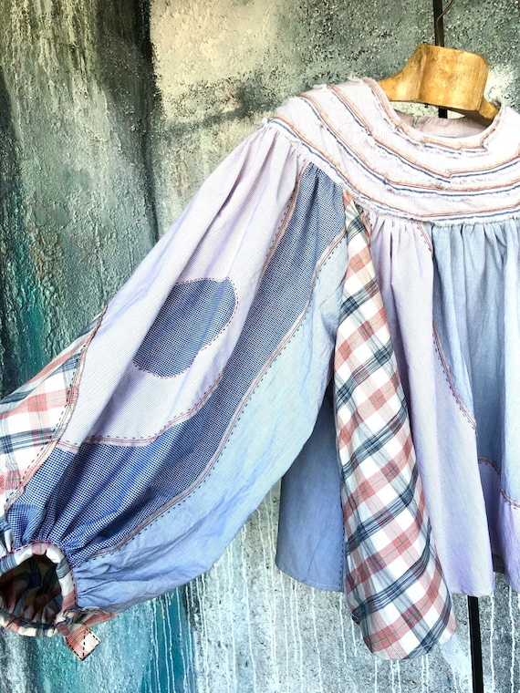 Big Sleeves  Cotton Patchwork Design Shirts