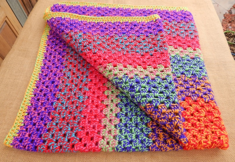 Crocheted Afghan Weighted Blanket Hand Crocheted 4 Lb Etsy