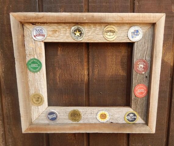Reclaimed Wood Frame -- Weathered Cedar Wooden Frame -- Rustic Cedar ...