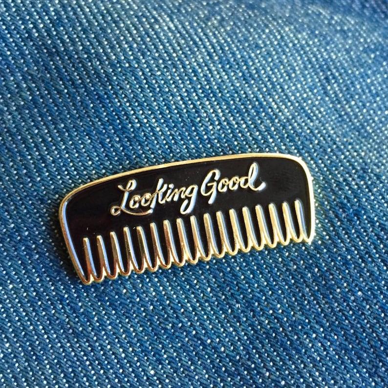 3f53f864f Look Good Enamel Pin | Etsy
