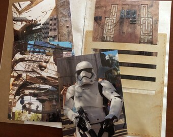 My Star Wars Journal Adventure Digi Kit - PDF Color and Ink Saver Junk Journal and Paper Arts 21 Pages