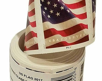 100 Forever US Flag Postage First Class Postal Stamps By USPS Post Office