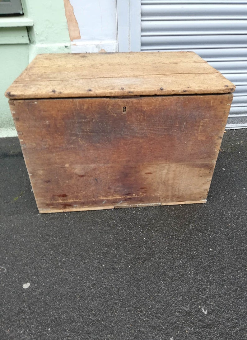 - Vintage Wooden Trunk / Coffee Table / Chest Etsy