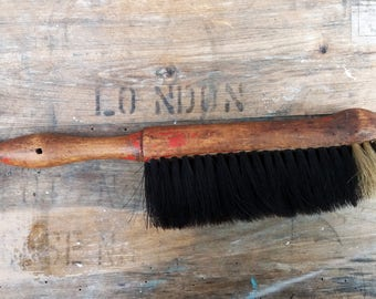Vintage primitive bristle sweeping brush.