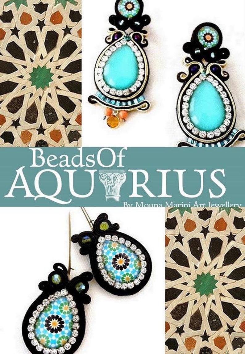 Boho chic dangle drop white  aqua turquoise lighweight earrings with  crystal rhinestone