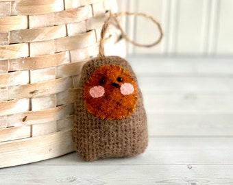 Robin Wool Bird Ornament Cute Spring Chick Decoration