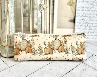 Cute Pencil Case Rustic Beehives Pencil Pouch Students Back to School