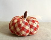 Autumn Red Plaid Pumpkin or Gourd