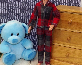 """BARBIE DOLL SHOES STACIE PINK BEAR /""""FUZZY/"""" SLIPPERS PJS PAJAMAS BEDTIME"""