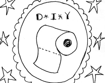 PDF Zine: Toilet Paper DIY - Make Your Own Toilet Paper - digital download