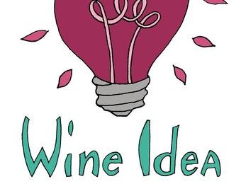 Temporary Tattoo for Wine Lovers - Wine Idea