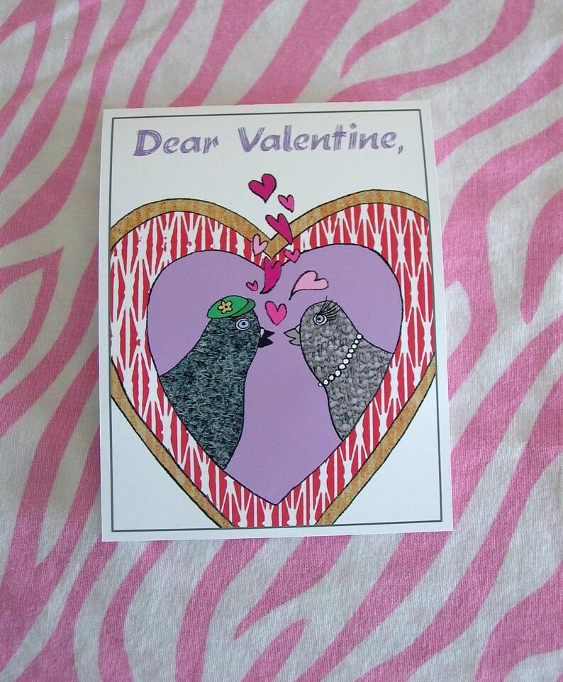 Pigeons Valentine  Lesbian version image 0