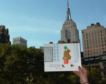 "Woman Wearing a Turban in New York City - Art Print - Love, New York - Illustration - ""Turban Lady"""