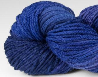 Handpainted DK weight yarn, 100% SW Merino, Spry115, 115 g, Lupine