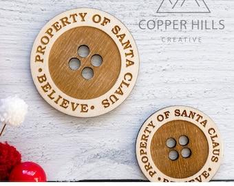 DIGITAL FILE (SVG) - Santa's  Button for Kids Christmas Morning Decoration includes marketing photo