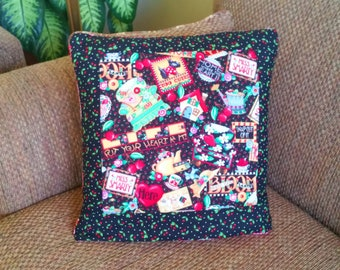 Mary's Mottos QUILLOW - Mary's favorite sayings in bold bright mary engelbreit colors motifs - personal quilt that folds into pillow