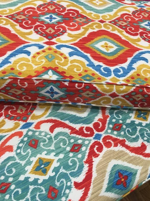 Patio CUSTOM CUSHION COVERS Mud Room Cushions Window Bench Cushions Breakfast Nook Richloom Solarium Outdoor Fresca Fiesta Fabric