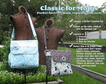 PDF - Classic for Moms: Converting Diaper Bag - Sewing Pattern