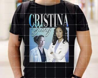 Cristina Yang Shirt, Sandra Oh Gift For Fan, Grey's Anatomy Gift Tee
