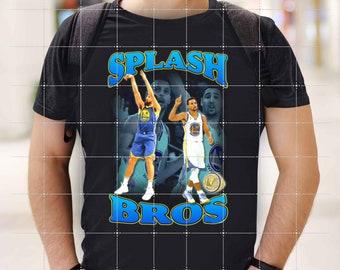 Splash Bros Shirt, 2021 Vintage NBA Steph Curry X Klay Thompson Unisex Tshirt