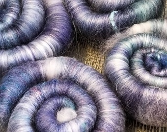 Rolags- Spin to Calm Wool Blend for Yarn Spinning 50g