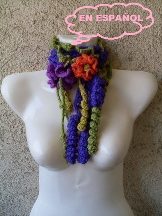 PATRON TUTORIAL Crochet bufanda cuello Formas libres | Etsy