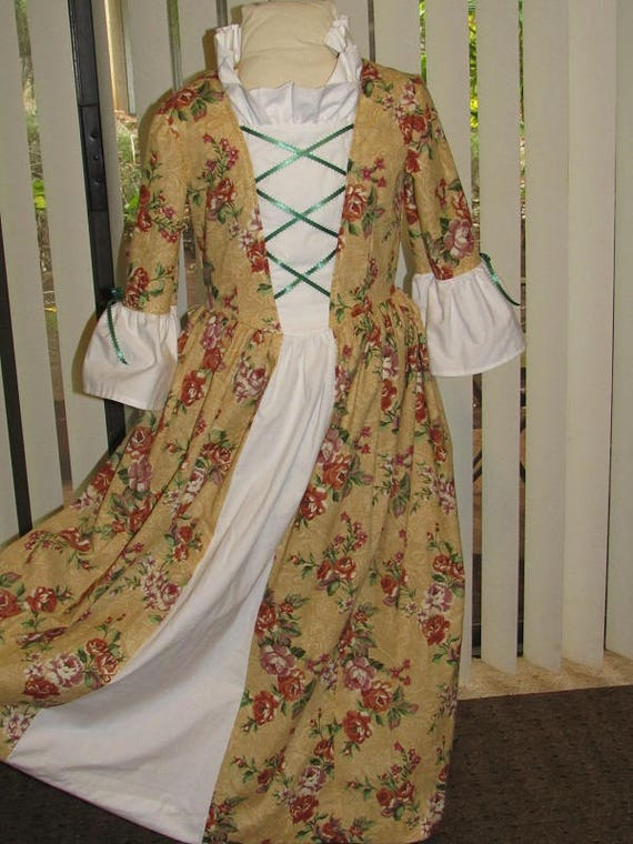 1770s 1770s Historical Colonial Gown Dress Costume and   Etsy