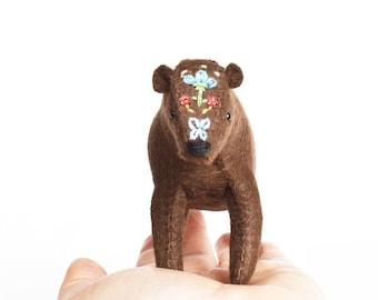 Woodland Bear DIY Hand Sewing & Embroidery Kit - Stuffed Felt Animal Kit