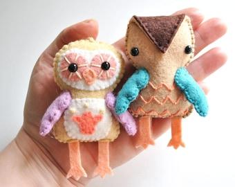Felt Owl Ornament Sewing Pattern - DIY Craft Project