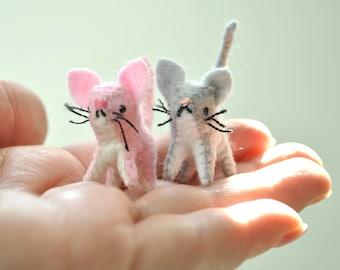 DIY Felt Miniature Animals Tiny Kitten Sewing Pattern