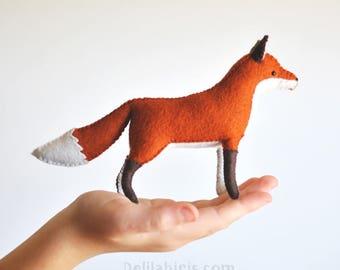 Woodland Felt Fox Pattern * Make A Stuffed Fox Toy * Waldorf Style Felt Animal Pattern * Printable PDF Stuffed Animal Sewing Pattern