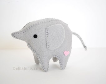 Grey Elephant Stuffed Animal Diy Kit Etsy
