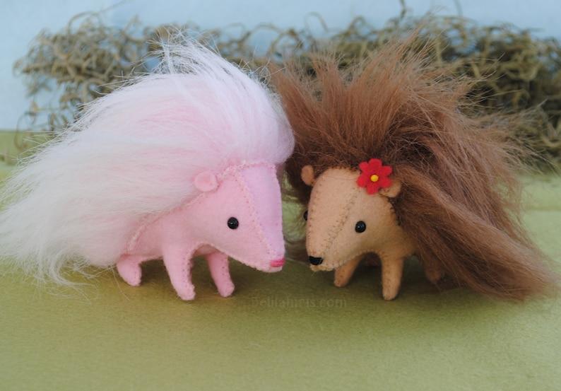 Felt Hedgehog Stuffed Animal Pattern DIY Hedgehog Plush ...